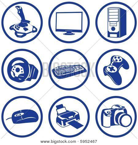Pictogrammes electronics.
