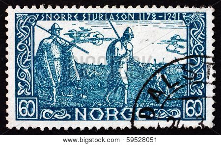 Postage Stamp Norway 1941 Before Battle Of Stiklestad