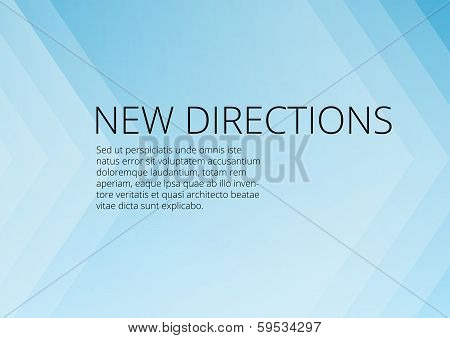 Abstract blue arrows background with copyspace
