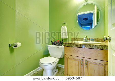 Refreshing Green Bathroom