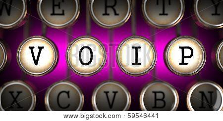 VOIP on Old Typewriter's Keys.