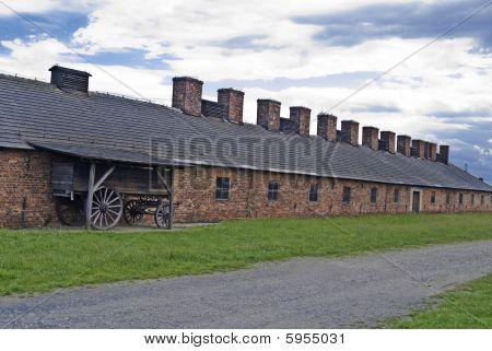 Cookhouse And Cart In Auschwitz - Birkenau