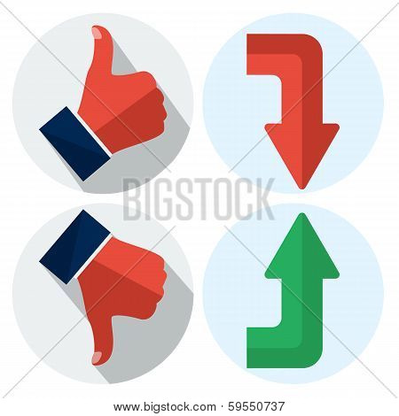 up and down flat illustration