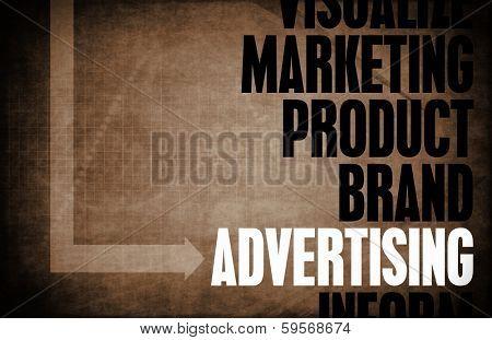 Advertising Core Principles as a Concept Abstract poster