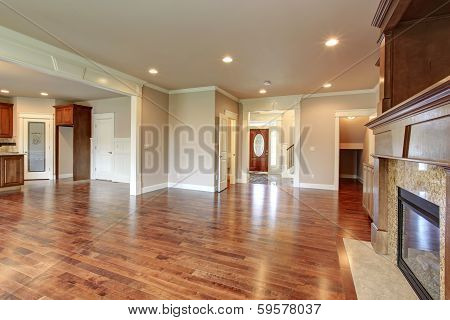 Open Plan Design. Living And Kitchen Room