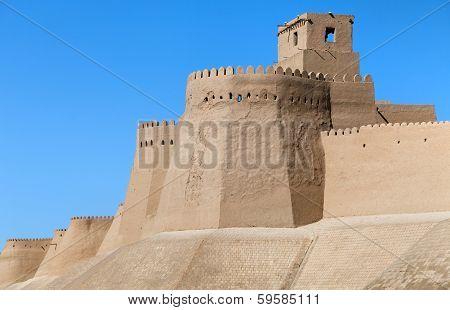 Wall Of Itchan Kala (ichon Qala) - Khiva (chiva, Heva, Xiva, Chiwa, Khiveh) - Xorazm Province - Uzbe