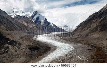Durung Drung Or Drang Drung Glacier Near Pensi La Pass On Zanskar Road - Great Himalayan Range - Zan