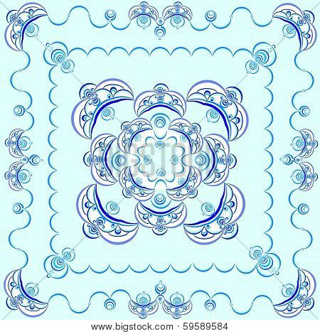 pattern for blue tablecloth