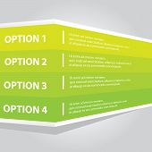 green vector Paper Progress product choice or versions poster