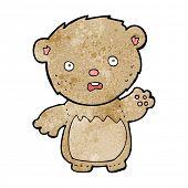 cartoon worried teddy bear poster