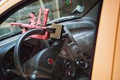 security steering wheel anti-theft vehicle - domestic production poster