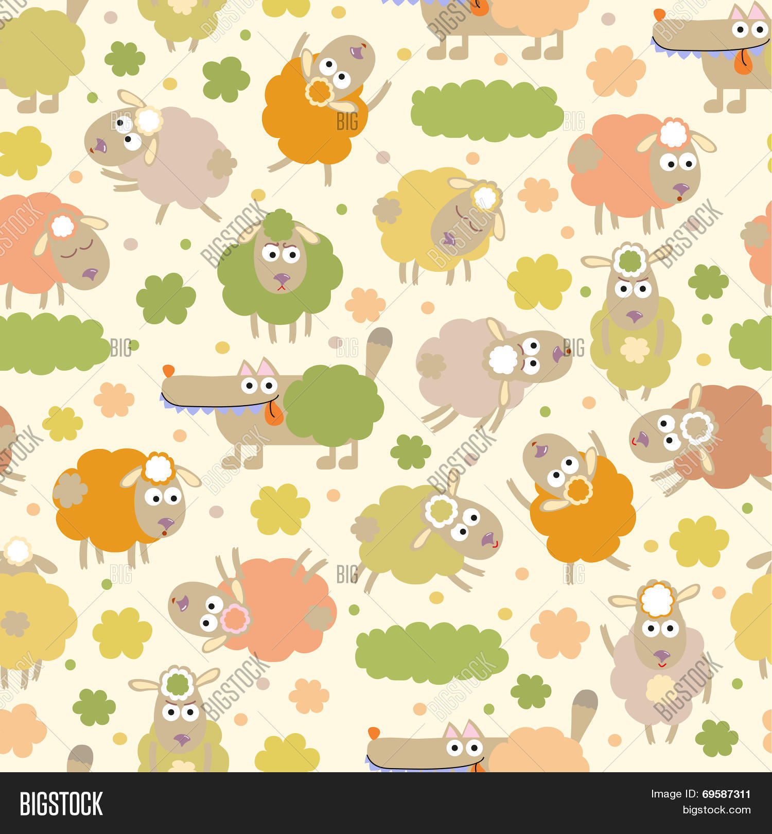 Sheep Wolf Vector Photo Free Trial