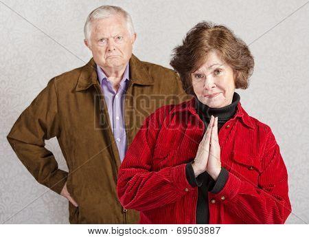 Coy Woman With Grumpy Man