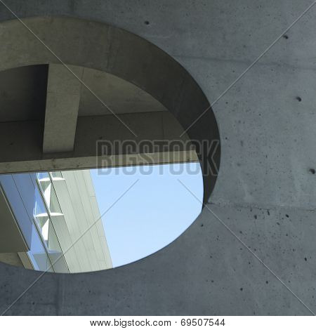 Concrete Circle Cut Out