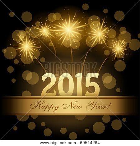 2015 Happy new year vector design
