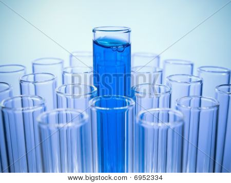 Test Tube With Blue Liquid