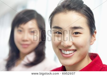 Attractive Young Women Smiling