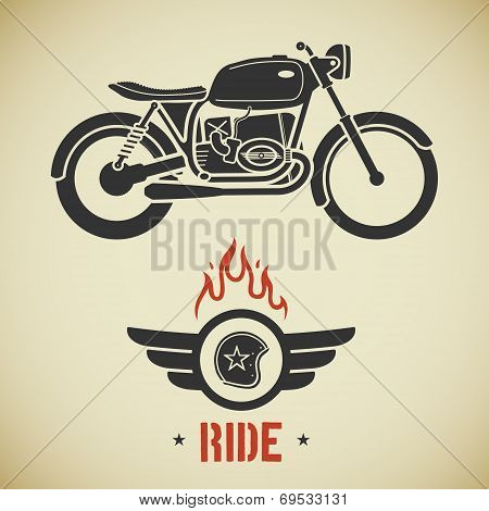 Retro motorcycle