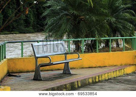 Park Bench Next to a River