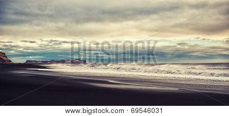 Iceland. Black Beach