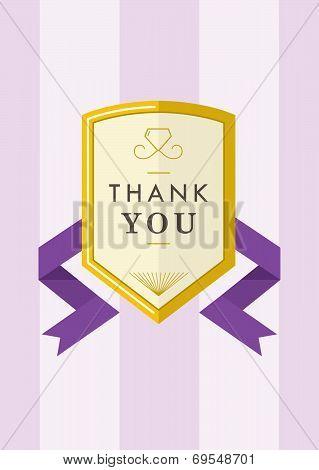 Thank you Card Gold Badge III