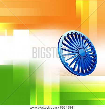 Poster, banner or flyer design with Asoka Wheel and creative national tricolors background for 15th of August, Indian Independence Day celebrations.