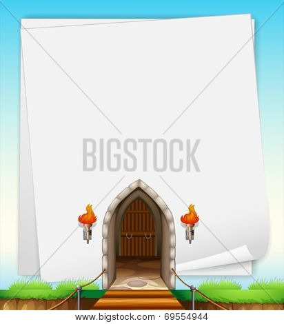 Illustration of a castle entrance
