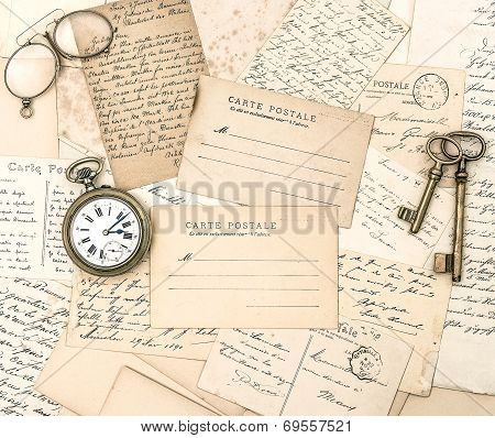 Antique Letters And Postcards. Ephemera