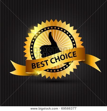 Best Choice  Label with Ribbon. Vector Illustration. poster