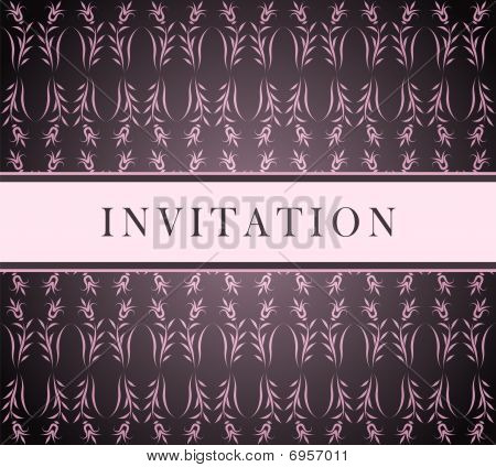 Invitation pink card