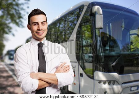 Portrait of a bus driver