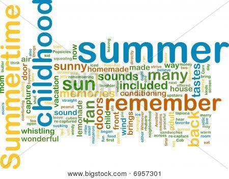 Summer Wordcloud