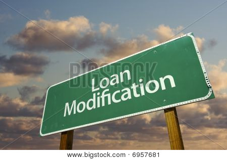Loan Modification Green Road Sign