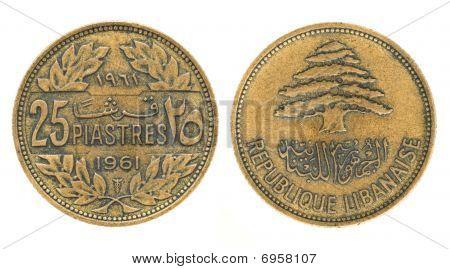 25 Piastres Or Piasters - Money Of Lebanon