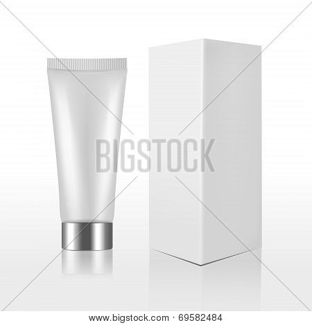 blank cosmetics packages isolated on white background t-shirt