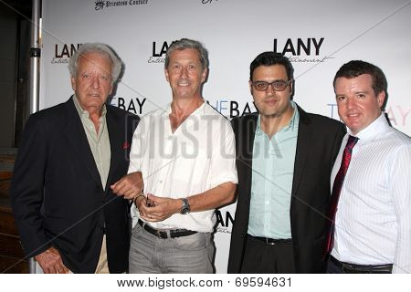 LOS ANGELES - AUG 4:  Nicolas Coster, Charles Shaughnessy, Gregory J. Martin, Josh O'Connell at the