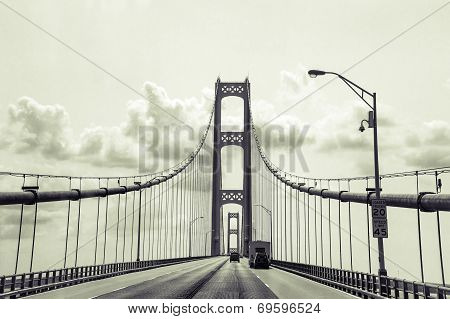 Retro Mackinaw Bridge