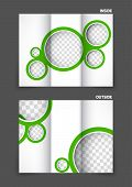 Tri-fold brochure with circles for golf club tournament design poster
