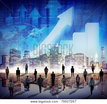 Stock Market Stock Exchange Trading Forex Business Currency International Concept poster