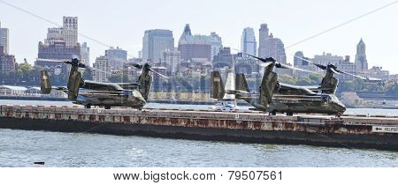 New York City, Usa,  Mv-22 Osprey