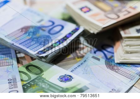 Euro Banknotes (close-up shot) for use as background image or as texture poster