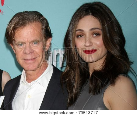 LOS ANGELES - JAN 5:  William H. Macy, Emmy Rossum at the Showtime Celebrates All-New Seasons Of