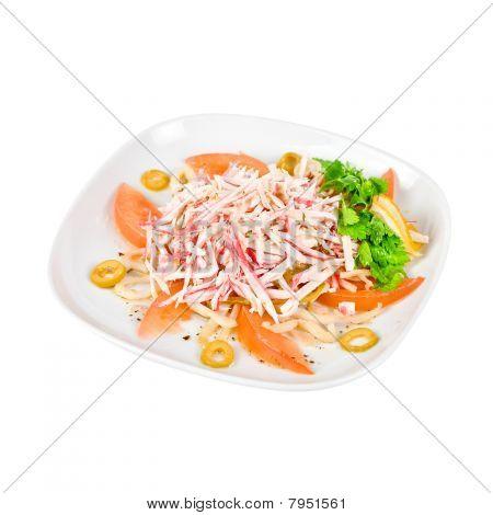 Salat von Krabbenfleisch