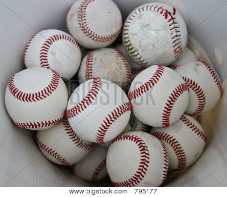 Bucket of Baseballs
