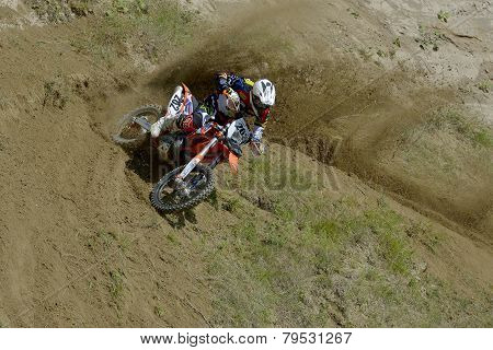 Sibiu, Romania - June 13: Marius Helmersen Competing In Red Bull Romaniacs Hard Enduro Rally With A