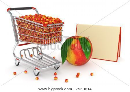 Shopping Cart Full Of Peaches