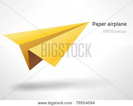 EPS10 vector paper aircraft