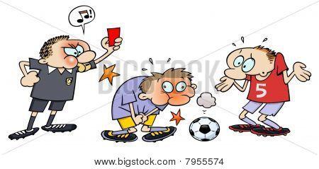 Soccer red card scene
