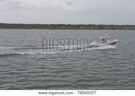 Speedboat Off The Outer Banks