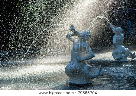 Forsyth fountain in Savannah, GA,